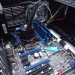Motherboard, CPU + Heatsink & Memory installed.