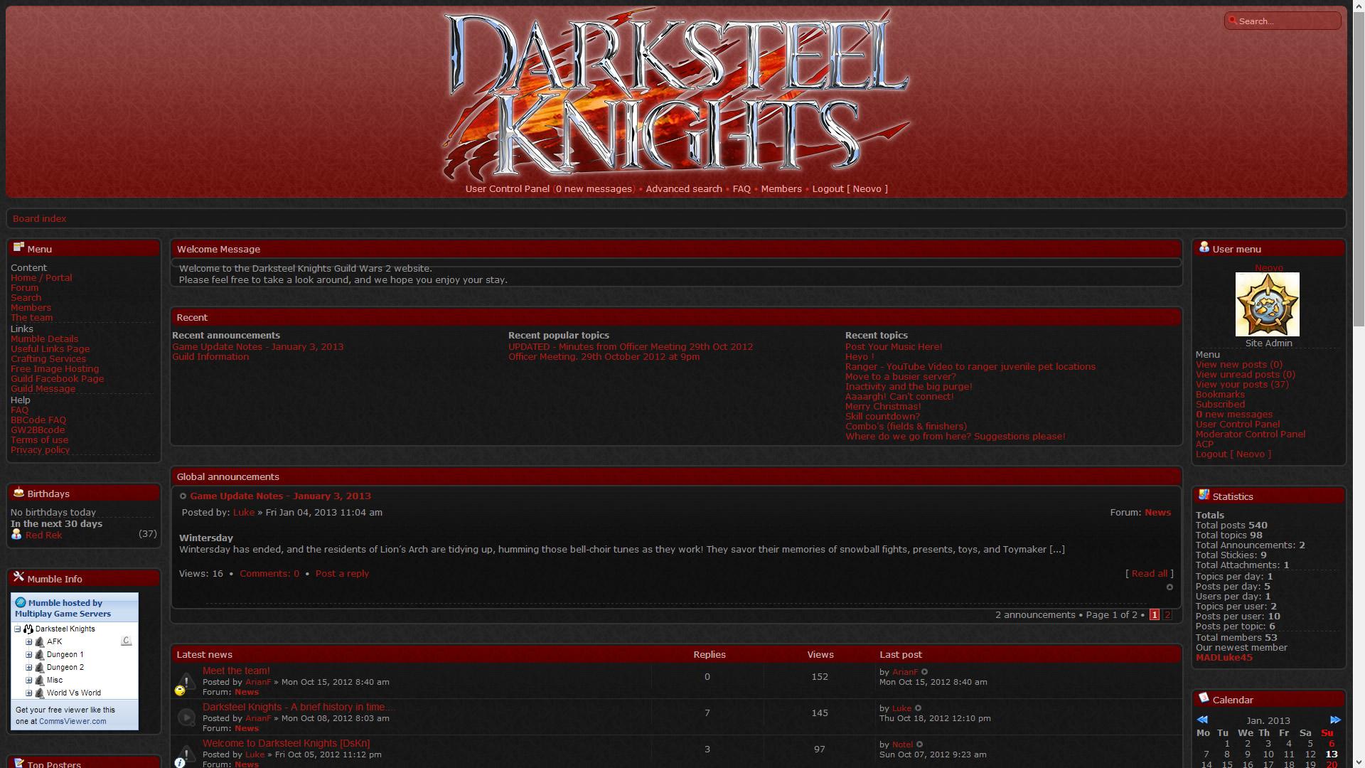 Darksteel Knights Website