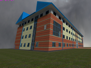 University Building Exterior [Ingame Screenshot]